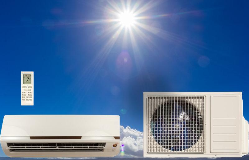 Installation de climatiseur solaire